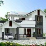 Square Feet Bhk Beautiful Slop Roof Modern House
