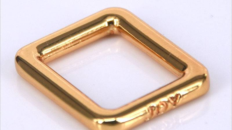 Square Gold Rings Buckle Handbag Hardware Supplies