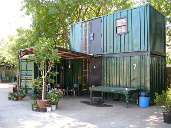 Stacked Shipping Container Cabin Tiny House Pins