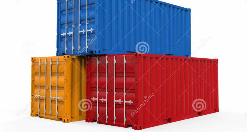 Stacked Shipping Container Illustration