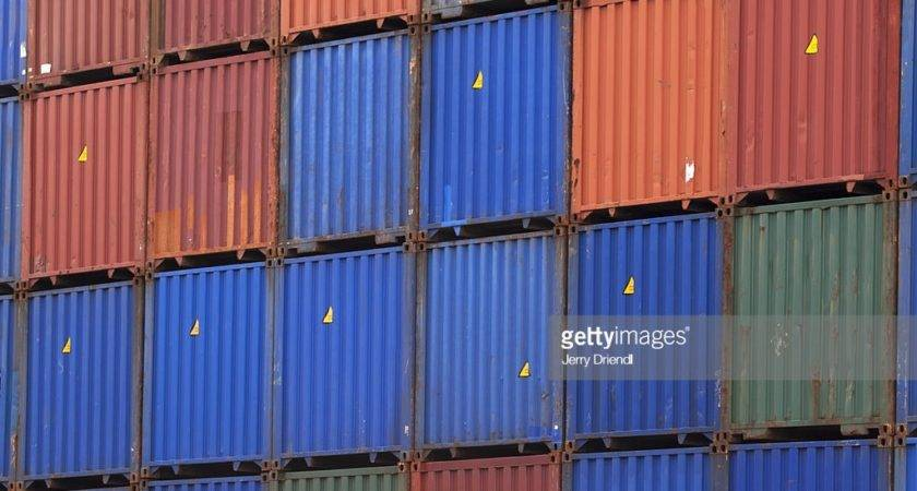 Stacked Shipping Containers Getty