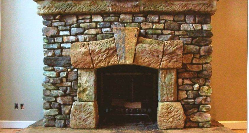 Stacked Stone Fireplace Design Finest