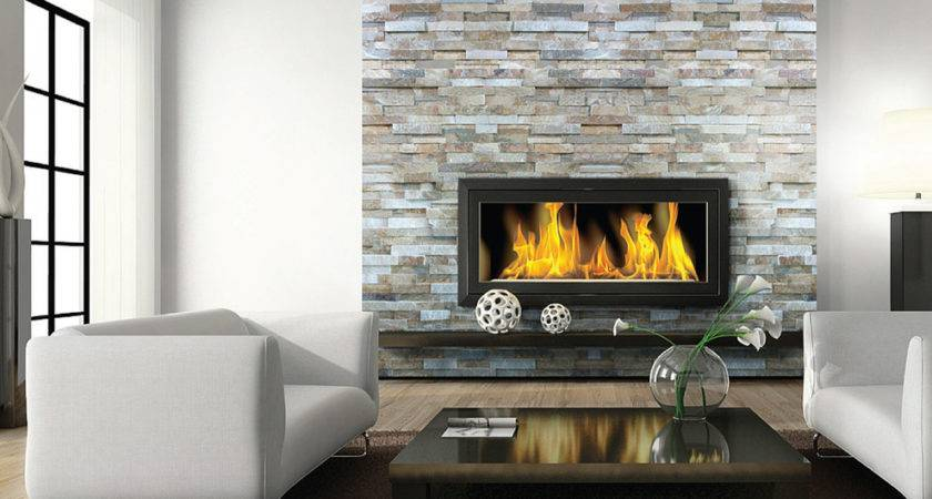 Stacked Stone Fireplace Ideas Room Rustic
