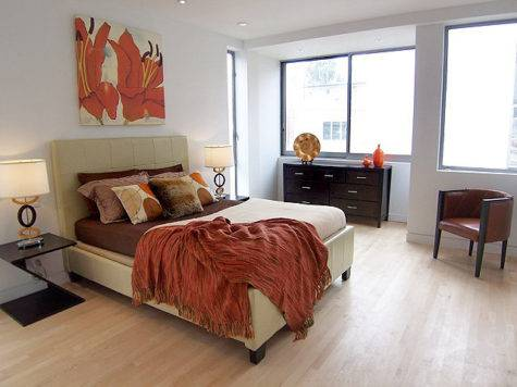 Staged Bedrooms Contemporary Bedroom Los Angeles