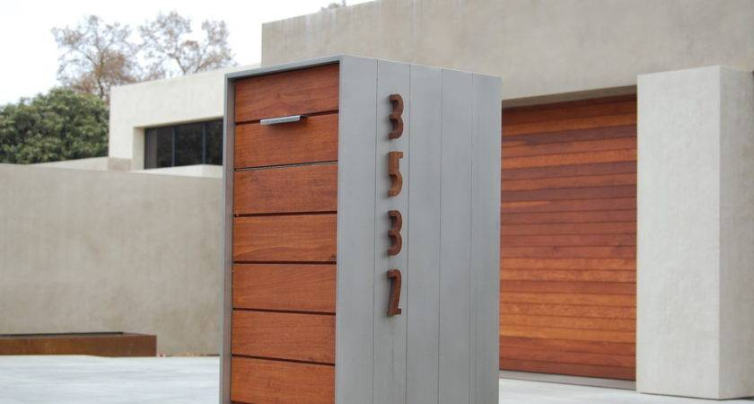 Staggering Modern Mailboxes Decorating Ideas