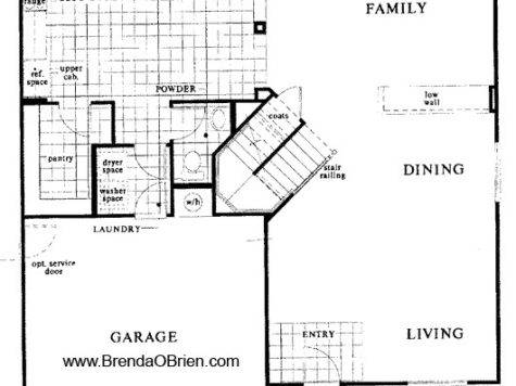 Stairs Floor Plan Home Design
