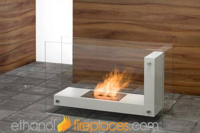 Standing Ethanol Fireplaces Contemporary Indoor
