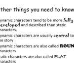 Static Dynamic Characters