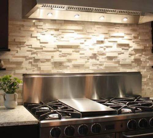 Stone Backsplash Kitchen Make Statement Back