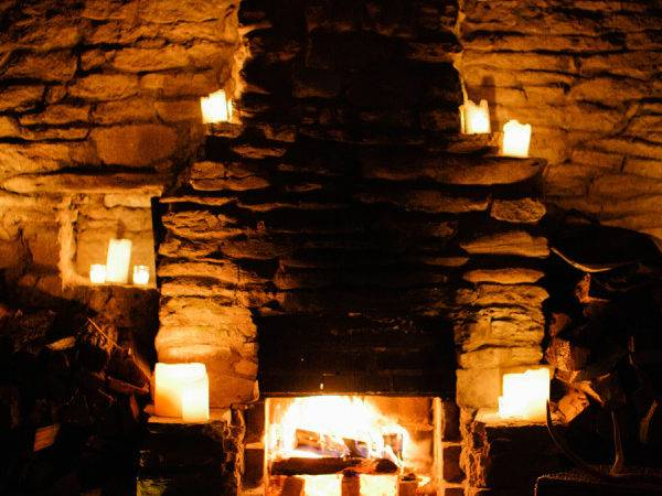 Stone Fireplace Candles Elizabeth Anne Designs