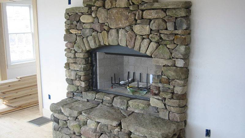 Stone Fireplace Natural Manufactured Fieldstone
