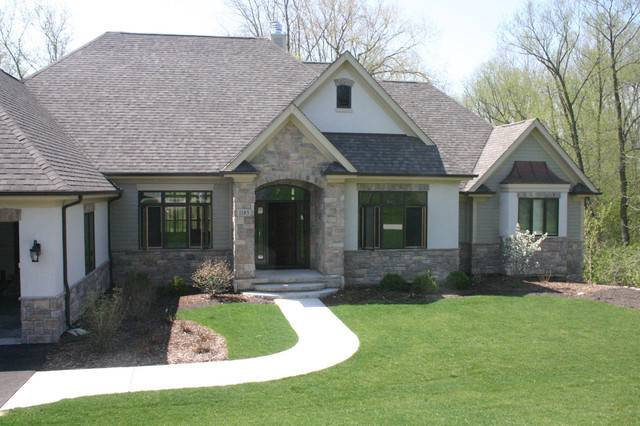 Stone Stucco Exteriors Traditional Exterior