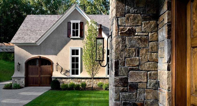 Stone Stucco House New Homes