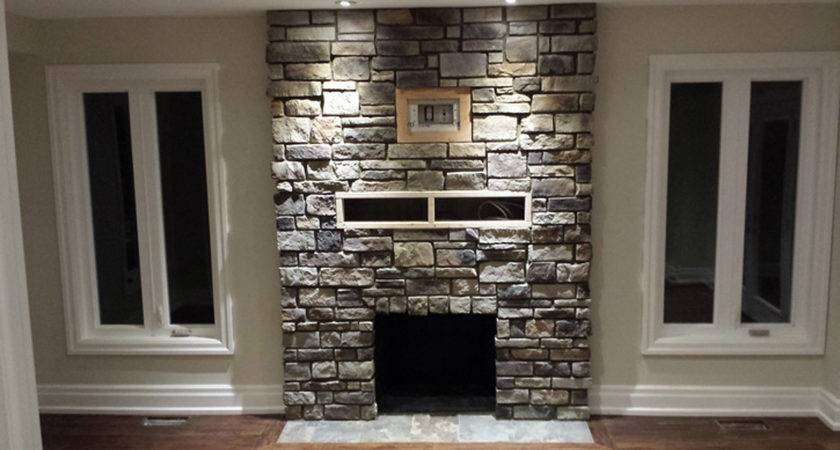 Stone Veneer Fireplace Decorate Your Living Room