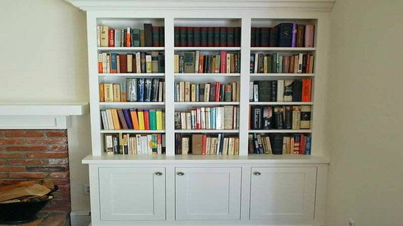 Storage Shaker Style Bookcase Ideas White Theme