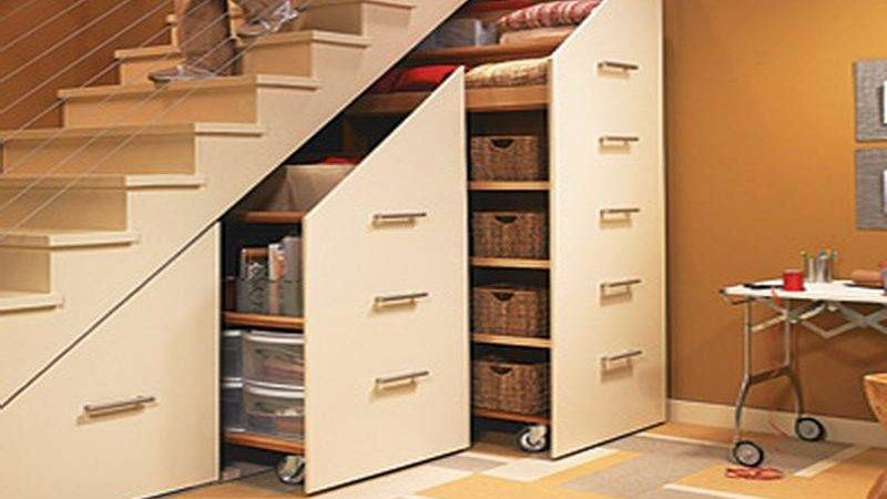 Storage Under Stairs Cabinets Small Space