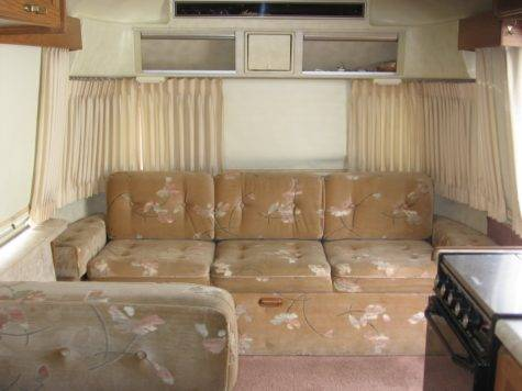 Straw Cottage New Old Airstream Sofa