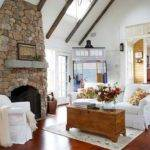 Stunning Living Rooms Stacked Stone Fireplace Rilane