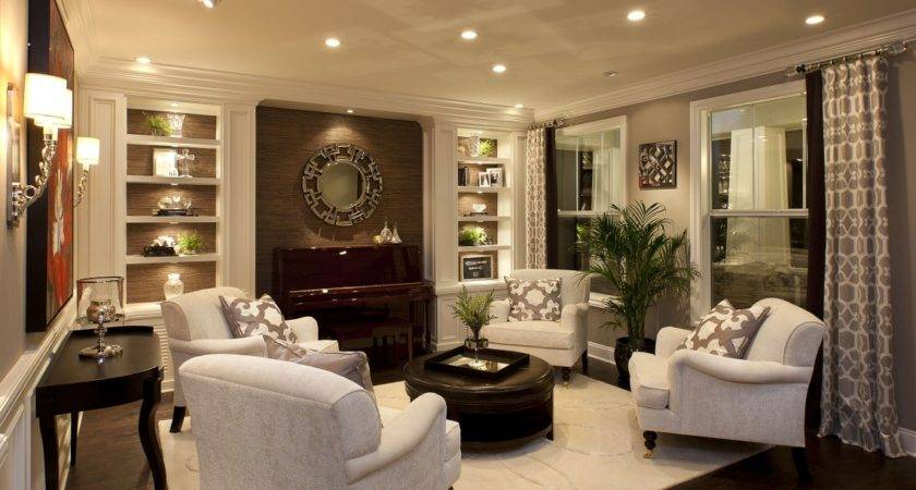 Stylish Transitional Living Room Before After Robeson