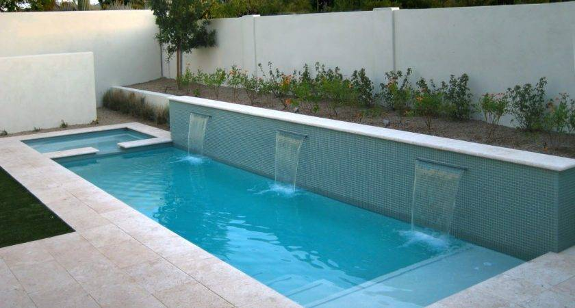 Swimming Pool Modern White Stone Floor Yard Pond