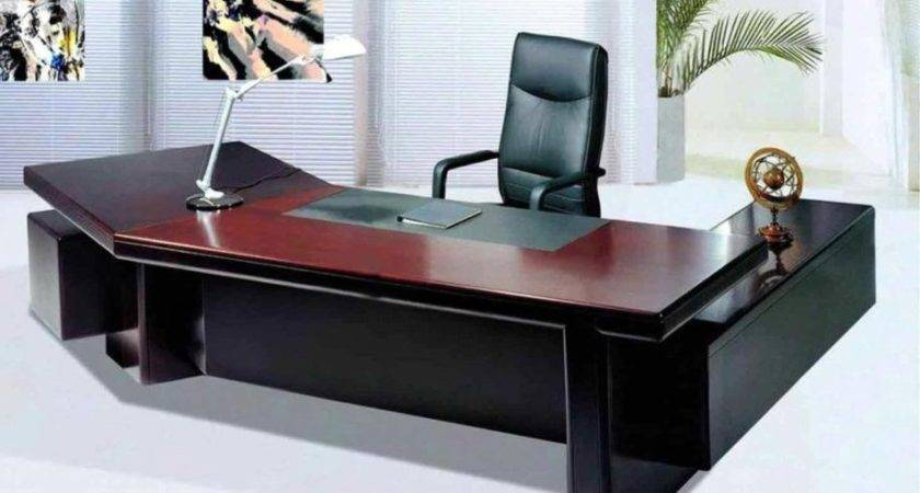 Table Designs Office White Black Colors Wooden