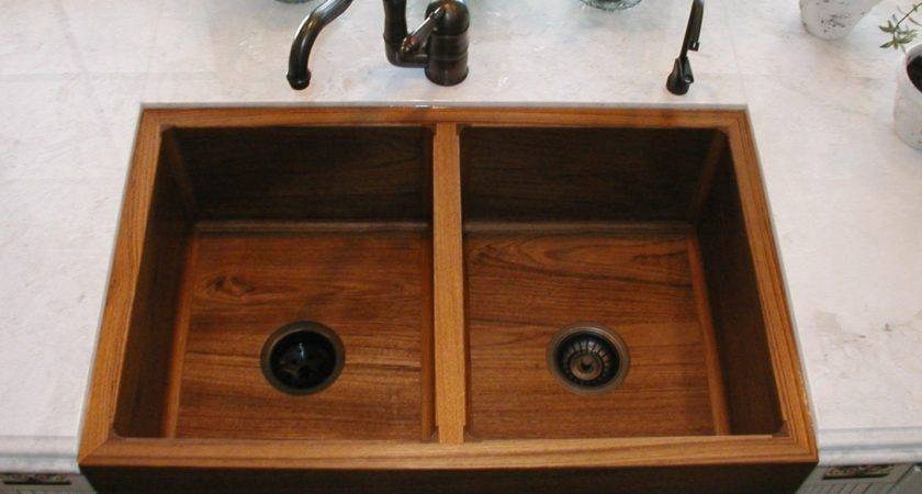 Teak Double Kitchen Sink Artisan Crafted Home