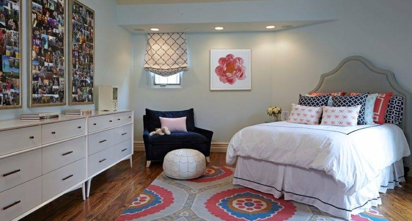 Teen Girls Bedroom Ideas Eclectic Beige Rug
