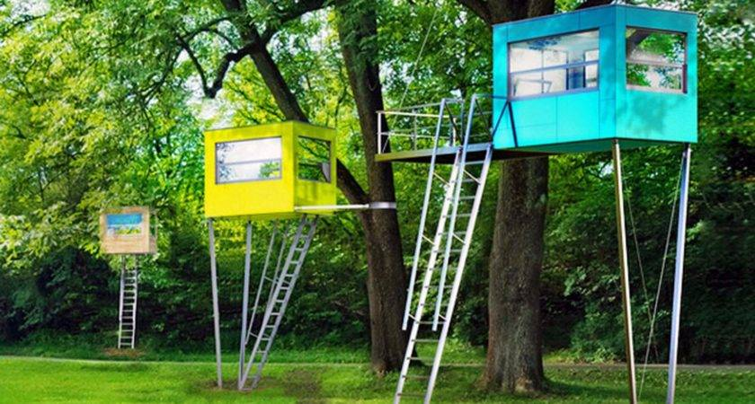 These Colorful Cubes Even Tree Houses Going