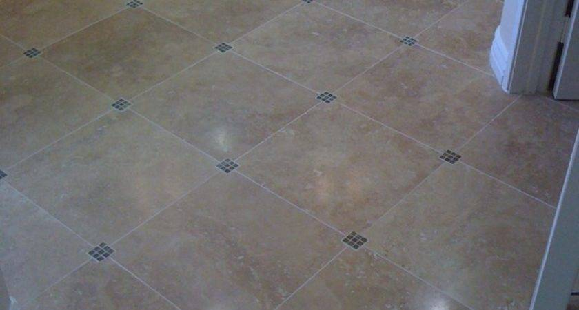 These Diagonal Bathroom Floor Tiles Have Small Tile Accent