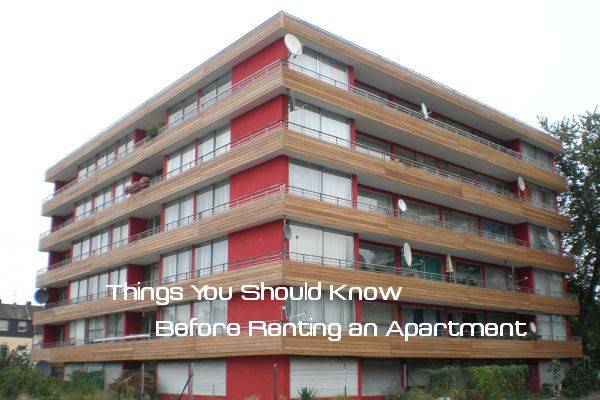 Things Should Know Before Renting Apartment