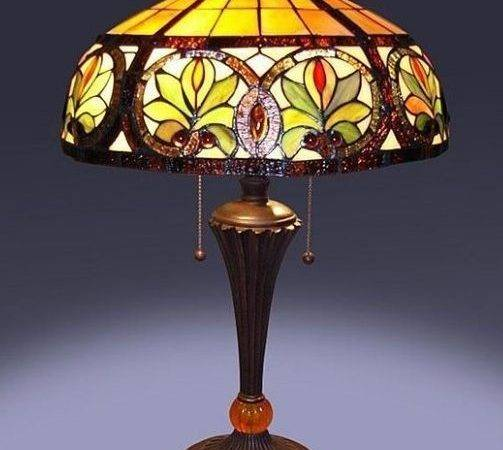 Tiffany Style Glass Sunrise Table Lamp Lamps Shade