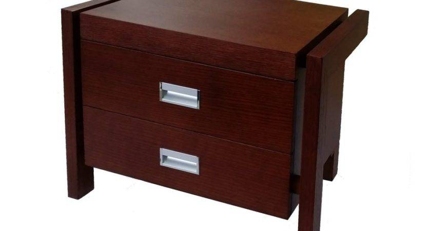 Timber Veneer Bedside Tables Clearance