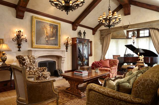 Timeless Tudor Estate Traditional Living Room