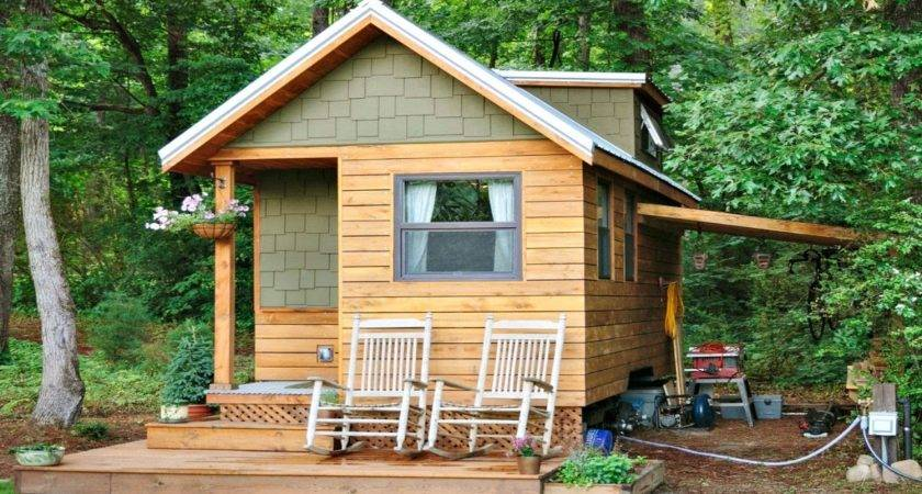 Tiny Home Towable Country Rustic Cedar Small House