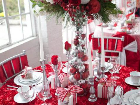 Top Christmas Table Decorations Pinterest