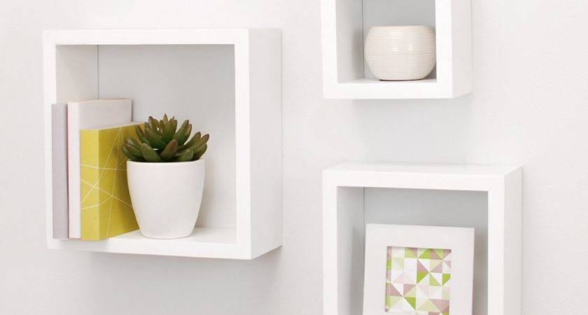 Top Floating Wooden Square Wall Shelves Buy