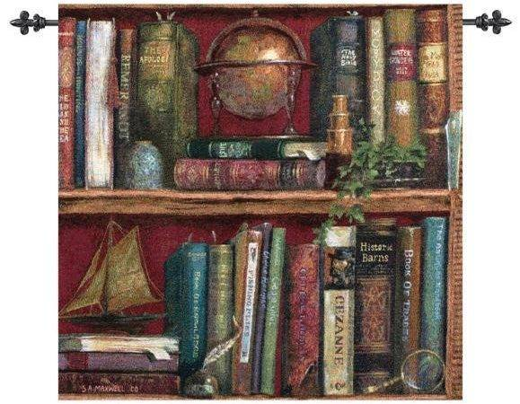 Top Shelf Book Tapestry Wall Hanging Ebay