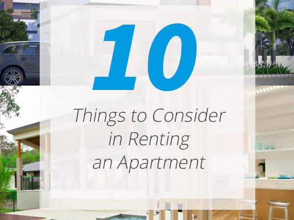 Top Things Renting Apartment