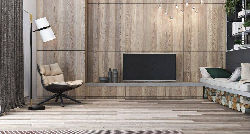 Tour Homes Comfortable Wood Wall Treatments