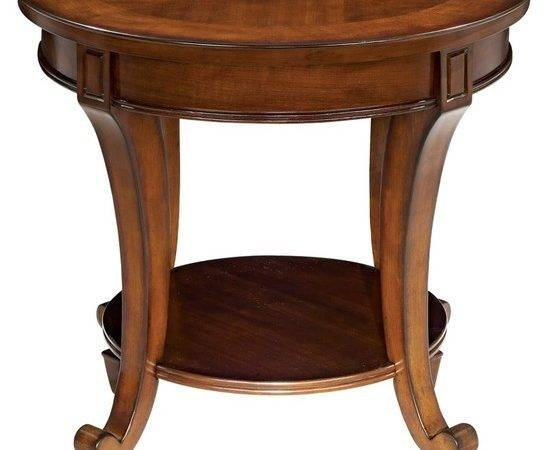 Traditional Demilune Collection Round End Table