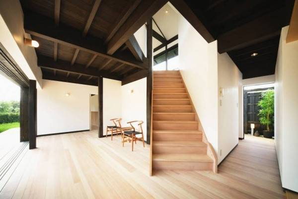 Traditional Japanese House Wooden Stair
