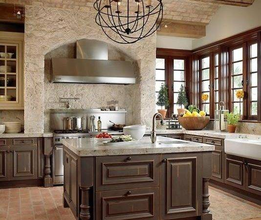 Traditional Kitchen Brick Walls Ideas Modern
