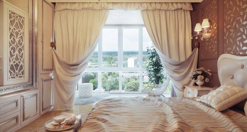 Traditional Neutral Curtain Swags Olpos Design