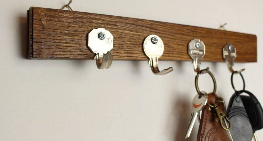 Transform Old Keys Into Key Holder Wall