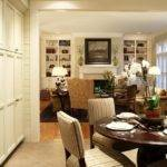 Transitional Dining Living Room Coffered Ceilings