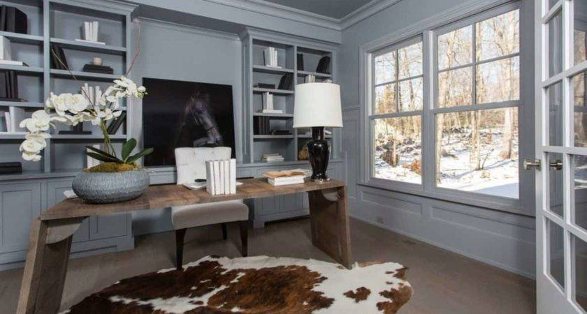 Transitional Home Office Decorating Ideas Nice