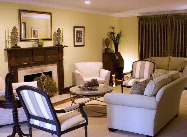 Transitional Living Room Interior Design Furniture