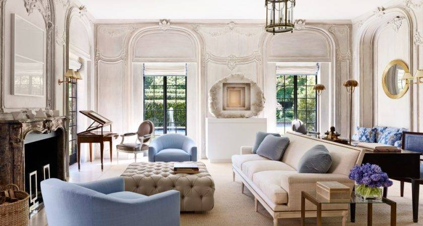 Transitional Style Living Room Interior Design