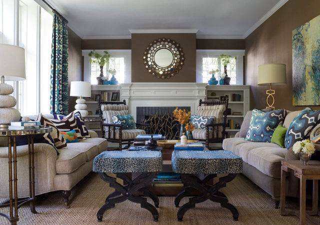 Transitional Style Living Space Contemporary