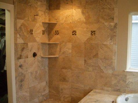 Travertine Master Bathroom Tile Windsor